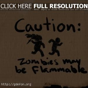 Осторожно, зомби могут загораться