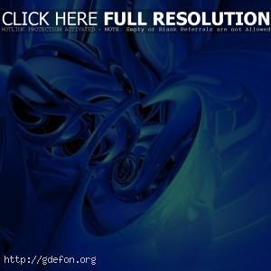 3D голубые эффекты