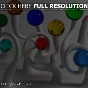 Шарики, прозрачные разноцветные