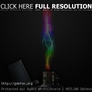 Зажигалка с цветным пламенем