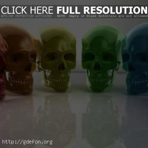 Цветные черепа