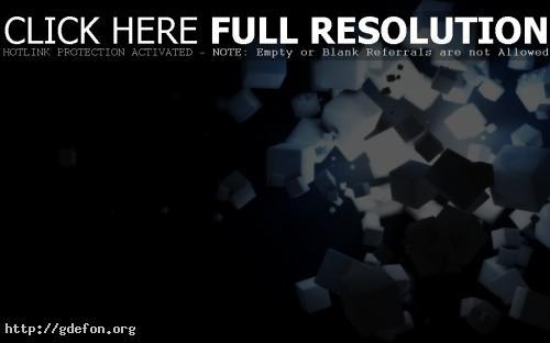 Обои Кубики в пространстве фото картики заставки