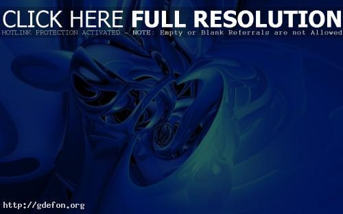 Обои 3D голубые эффекты фото картики заставки