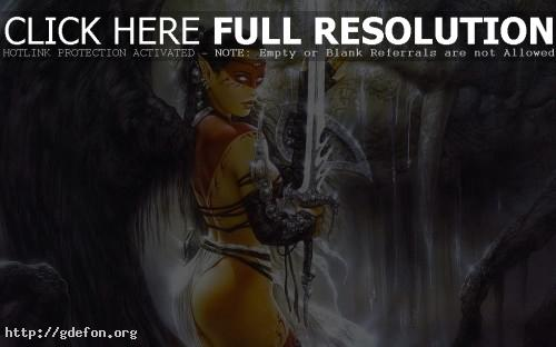 Обои Lady sword фото картики заставки