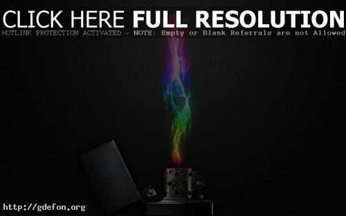 Обои Зажигалка с цветным пламенем фото картики заставки