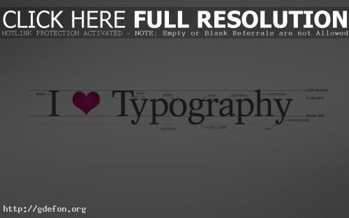 Обои I love typography фото картики заставки