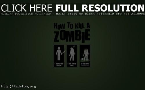 Обои Как убить зомби фото картики заставки