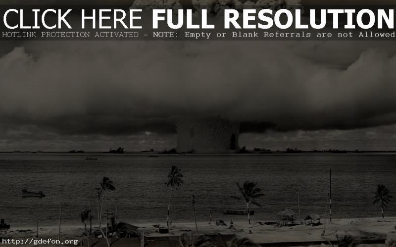 Обои Испытания ядерной бомбы фото картики заставки