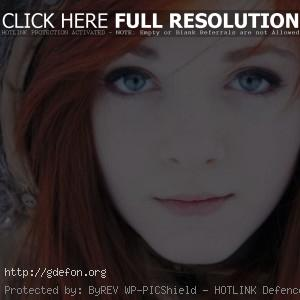 девушка с глазами цвета неба
