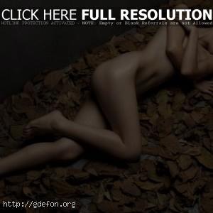 На листьях