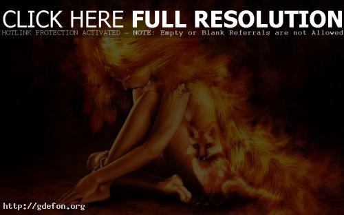 Обои Firefox девушка фото картики заставки
