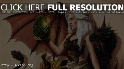 Обои Дейенерис — матерь драконов фото картики заставки