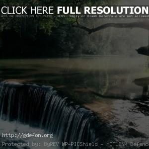 Водопад, река, свет
