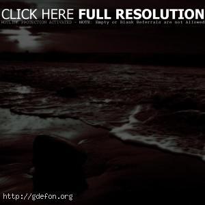 Камень, волны, берег