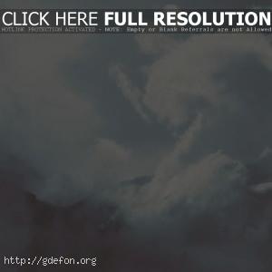 облака, горы, свет
