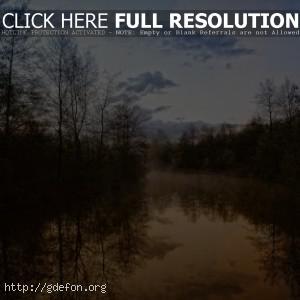 Вечер, природа, вид, красота, река, леса, деревья