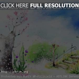 Весна, парк, цветы, лестница, фонарь