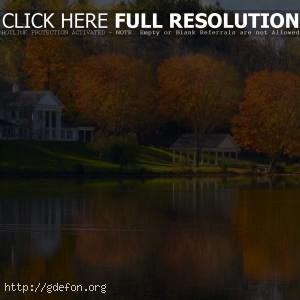 Огайо, осень, озеро