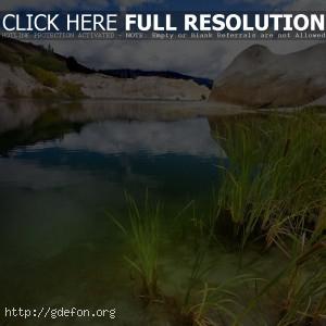 Озеро, рудник, гранит