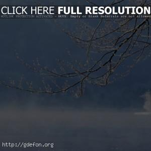 Зима, снег, река, вода