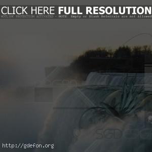 Водопад, ниагара, свет