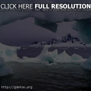 Лед, скалы, океан