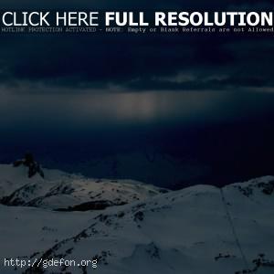 Зима, горы, снег