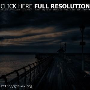 Пирс, облака, вечер