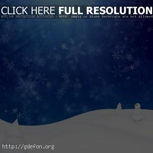 зима, снег, снеговик, снежинки, метель