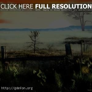 Закат, долина
