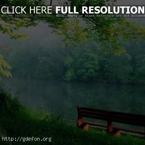 На берегу тихой  реки