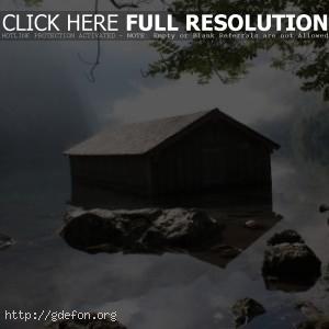 Пейзажи, деревья, вода, дома, берег