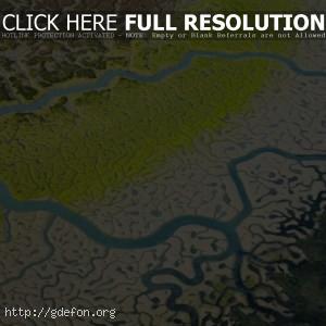 река, притоки, болота