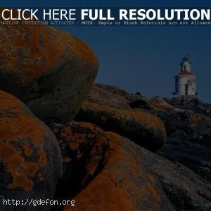 Висконсин, маяк, камни