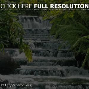 Каскад, водопад, зелень