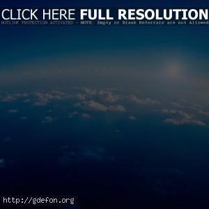 Облака, атмосфера, небо, горизонт
