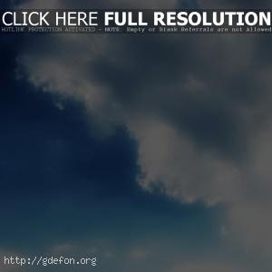 Небо, лучи, облака