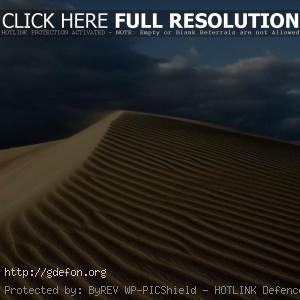 Пустыня, песок, тучи, небо, жара
