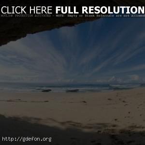 Небосвод, берег, пляж