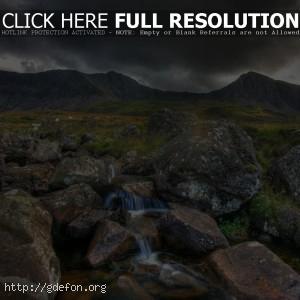 Природа, горы, камни, река