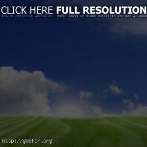 Пейзажи, деревья, трава, холмы, поля, поле, небо