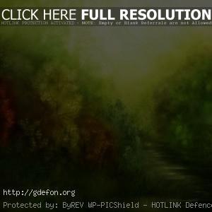 Зеленый рисунок
