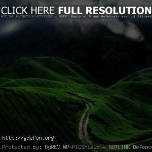 Дорога, планета, холмы