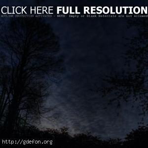 Ночь, пейзаж, небо