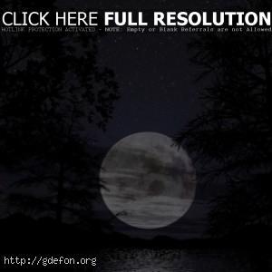 Огромная луна, скачать ночные красивые