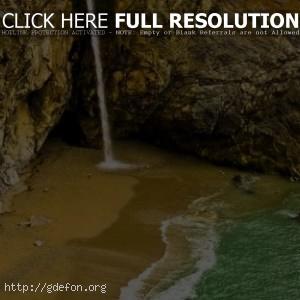 Пейзажи, водопады, вода, скалы, берег, песок