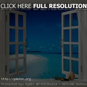 Тропики, бриз, окно