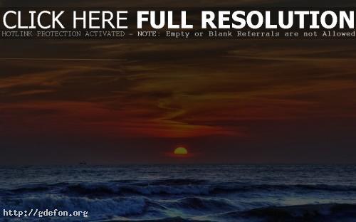 Обои Море на фоне заката фото картики заставки