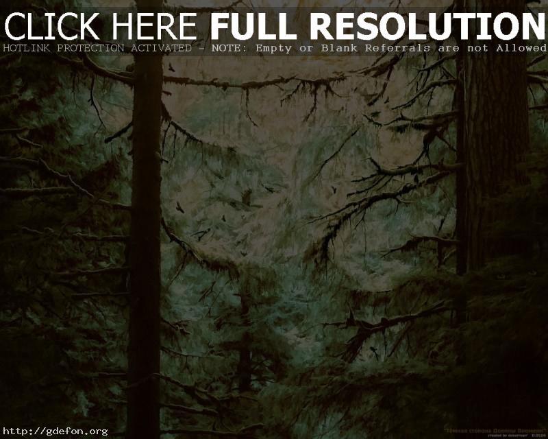 Обои Картина, деревья, чаща фото картики заставки