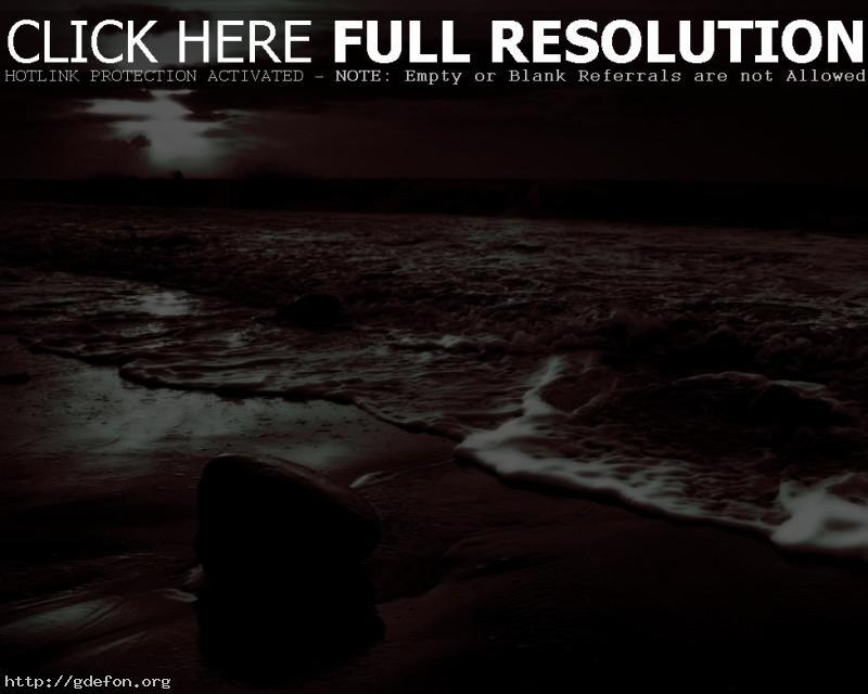 Обои Камень, волны, берег фото картики заставки